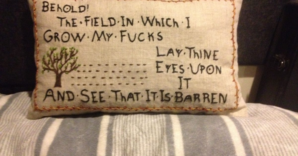 Judi Dench's fantastic embroidery